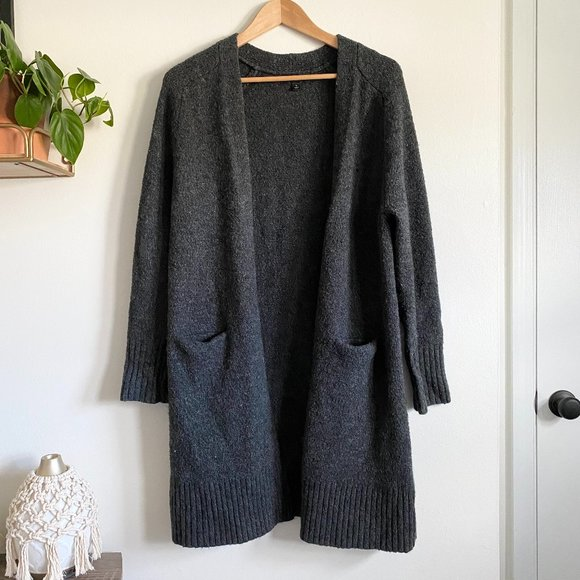 Mossimo Gray Oversized Cardigan with Pockets